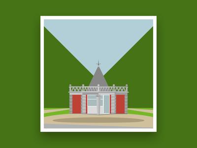 Formsaachen Aachen Pavillon Monheimsallee Illustration