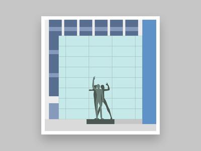Formsaachen Aachen Klenkes Statue Illustration