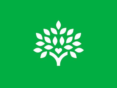 Besa / Mark identity branding green logo volunteer giving nonprofit leaf leaves heart tree besa