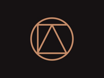 Alto copper identity typography logo mark abstract circle o t l a alto monogram