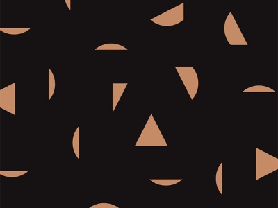 Alto / Pattern triangle black copper abstract shapes pattern