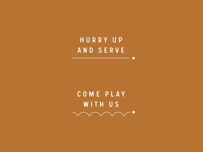 Serve / Typography paddle playful type typography bounce bouncing ping pong pingpong serve