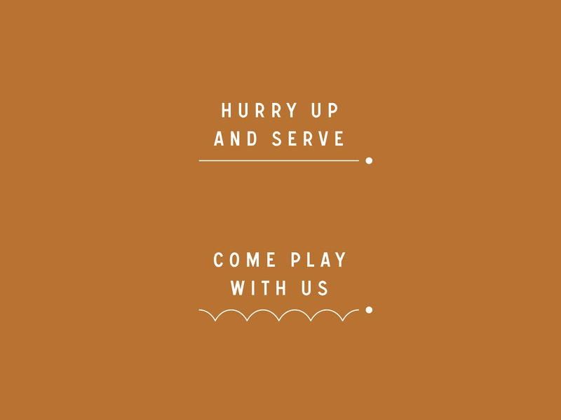 Serve / Typography