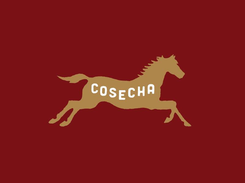 Cosecha Horse running cosecha identity logo palmetto restaurant horse