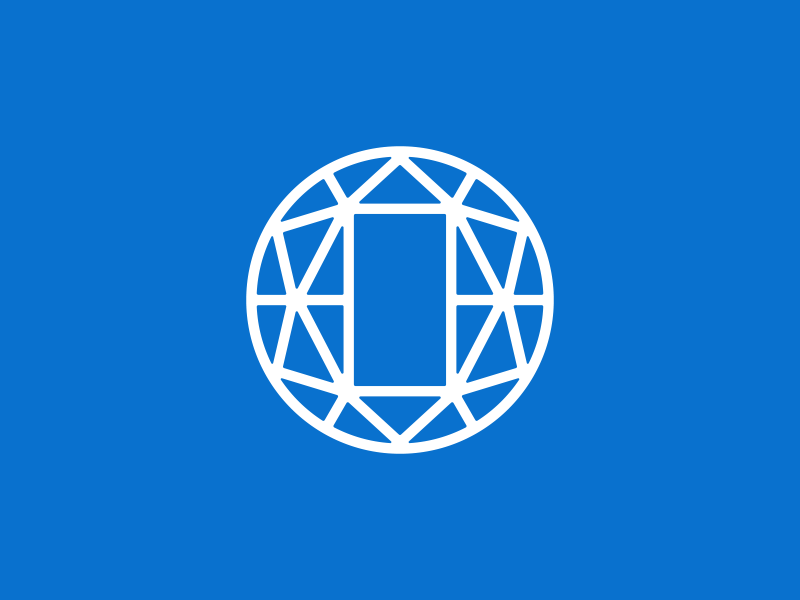 """""""O"""" type typography concept identity logo corporate blockchain connections connection o linear"""