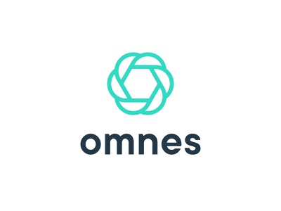Omnes / Lockup connections corporate linear connection blockchain identity mark logo liberty civil justice o omnes