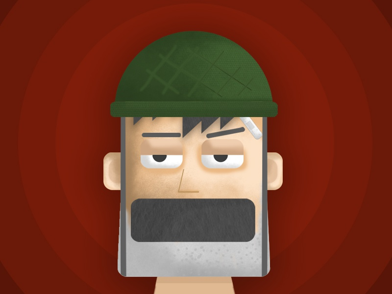 Cold Blooded Soldier photoshoptexture texure vector face characterface photoshop illustrator coldblood soldier character characterdesign