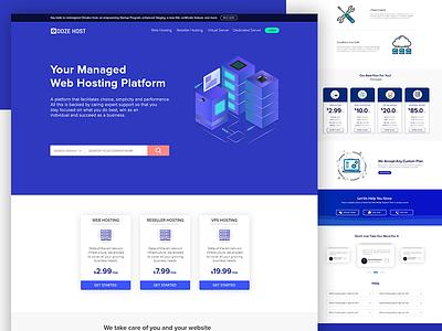 Web Hosting Landing Page minimal webdesign hosting uidesign landing page ui
