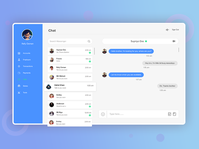 Office messenger office chat office chat app design uidesign uiux ui messenger massage chat bot chat
