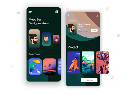 Designer Platform appdesign design art illustrator illustraion project designers uidesign uiux android app ios profile designer