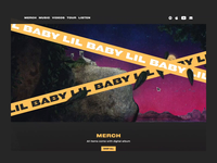 Lil Baby Homepage animation design 3d animation 2d rap rapper interaction parallax animation lil baby