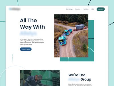 Corporate Logistics Website services about us splash page transport green blue circles landing page website logistics shipping corporate website