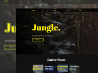 Jungle - Nature Blog Website Design