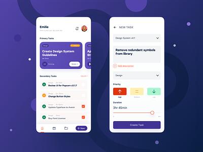 Task Management task management tasks dashboard mobile app ux ui design