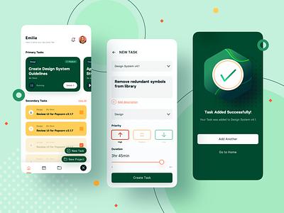 Task Manager v2 project managment task sketch mobile app ux ui design