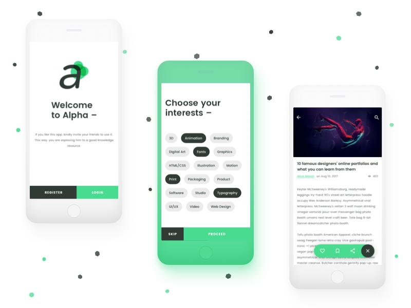 Alpha - Free Sketch UI Kit