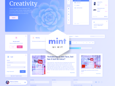 Mint - Free Sketch Web UI Kit