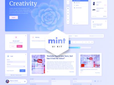 Mint - Free Sketch Web UI Kit