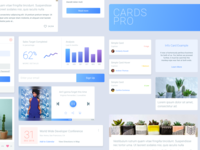 Cards Pro - Free UI Kit