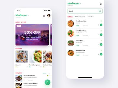 Foodie App foodie food design app mobile ux ui