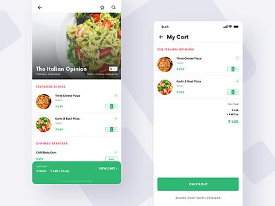 Foodie App foodie food app design mobile ux ui