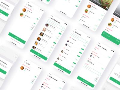 Foodie App cart group foodie food design app mobile ux ui