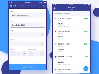 Flights aeroplane search flight ux design app mobile ui