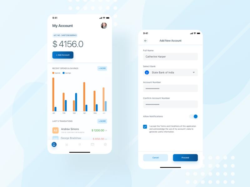 Account Info bank wallet account dashboard sketch mobile app ux ui design