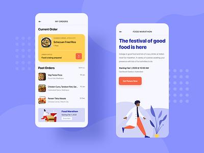 Food App order food app art vector illustration mobile app design ux ui