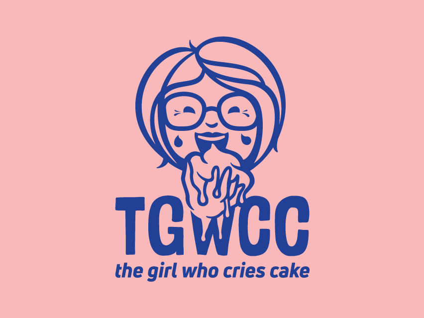The Girl Who Cries Cake Logo Design branding logo design logo cake shop pastry cake