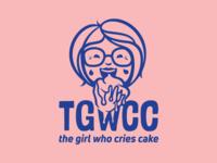 The Girl Who Cries Cake Logo Design