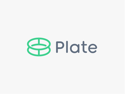 Plate (Unused) unused restaraunt applicaiton moblie circle plates plate abstract food app minimal icon modern logo design branding