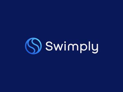 Swimply (unused) liquid water pools letter s s swimming pool swimming app branding minimal icon logo modern design
