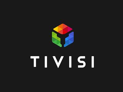 T logo branding icon illustration color logo v logo unused design logo t logo