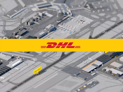 DHL animation isometric design dhl amsterdam airport city isometric arnoldrender c4d animation 3d animation 3d