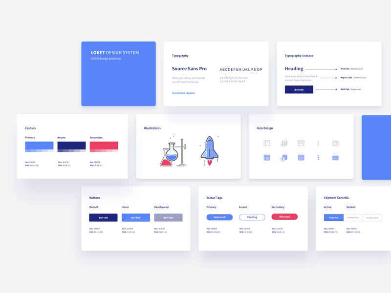 Design System mobile branding products app visual ux ui components system design