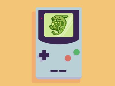Wapuumon game gaming retro console pixel pixelart retro pokemon wordpress wapuu illustration design vector