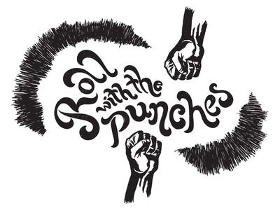 Roll With The Punches Hand Lettering