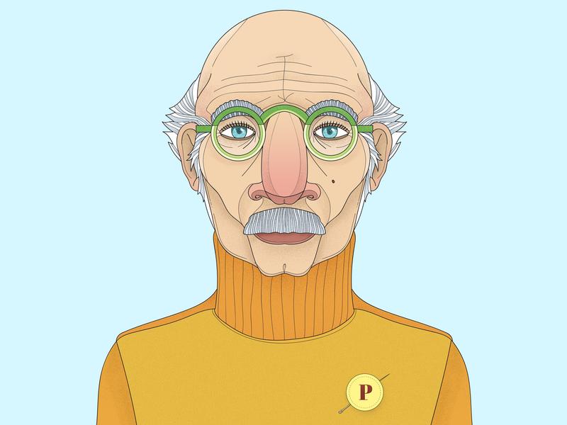 Professor art character digital art hand denton design colorful illustration drawing