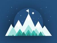 Success Mountain Illustration