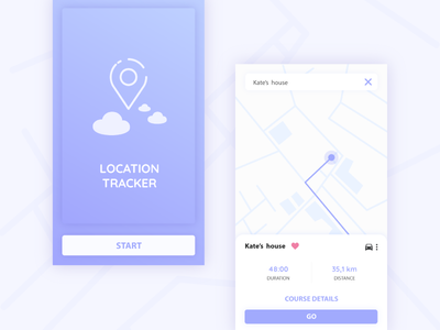 Location tracker - Daily Ui 20 daily ui challenge daily ui interface app location tracker position tracker location purple ui clean 20