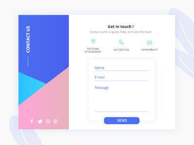 Contact us - Daily ui 28