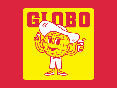 Globo mascot sweet version redesign sweet brazilian mascot brazil lettering globe rio de janeiro beach biscuit food character drawing cartoon illustration color digital 2d vector illustrator