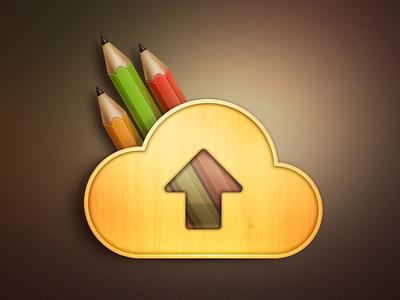Upload? Cloud? Rainbow? Penholder?