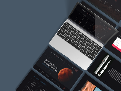 To Mars travel spacex web webapp space universe mars desktop showcasing mockup design