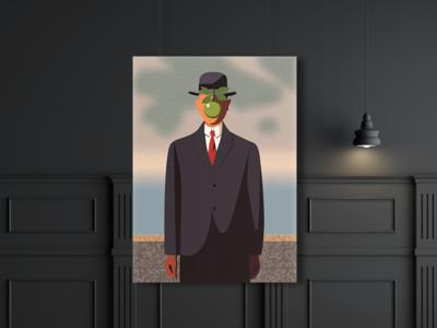 Son of Man Illustration minimal vector adaptation illustration