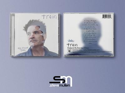 Train Album Redesign rework train double exposure cover cd album graphic design photoshop