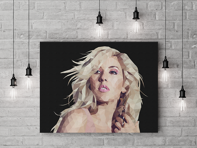Ellie Goulding Illustration vector portrait celebrity illustration illustrator graphic design low poly geometric