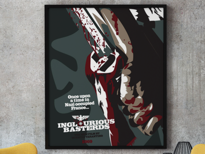Inglorious Basterds Illustrated Poster vector art movies illustration graphic design posters