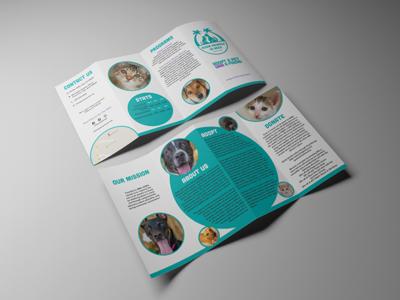 Guam Animals In Need Brochure marketing graphic design brochure